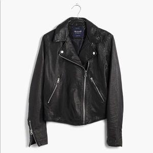 Madewell Washed Leather Motorcycle Jacket M NWT